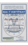 Biały Certyfikat
